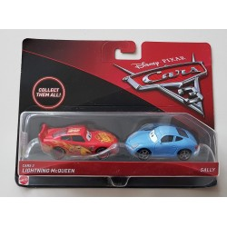 Lightning McQueen en Sally Carrera